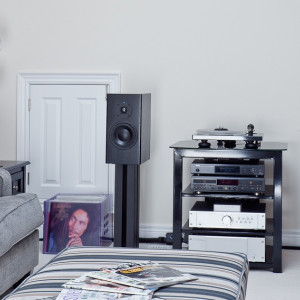 Audio system with turntable